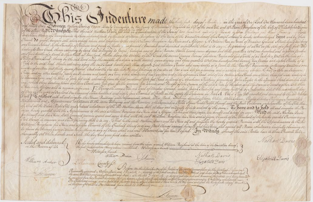 1791 Property Deed